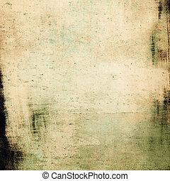 grunge, utrymme, text, avbild, bakgrund., årgång, eller