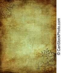grunge, utrymme, text, avbild, bakgrund, blommig, eller