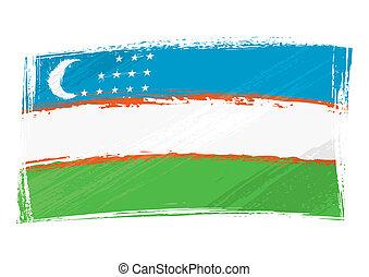 Grunge Uzbekistan flag
