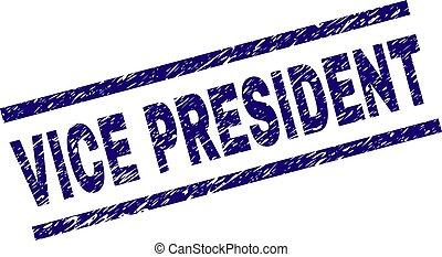 grunge, vício, selo, textured, selo, presidente