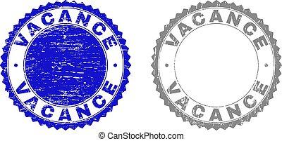Grunge VACANCE Textured Stamps