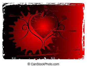 Grunge Valentines abstract background