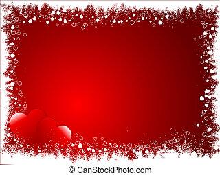 Grunge Valentines background