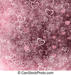 Grunge Valentines Day heart background