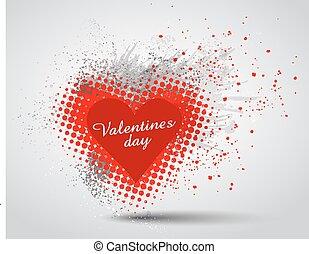 Grunge Valentines Day hart background