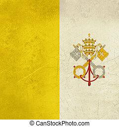 Grunge Vatican City Flag