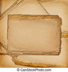 grunge, vecchio, carte, disegno, in, scrapbooking, stile