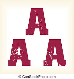 Grunge vector A letter - vector