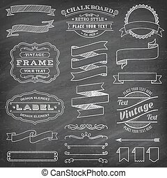 Grunge Vector Banners and Decorations - Big collection of...