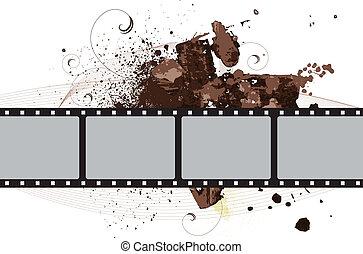 Grunge Vector Film Frame