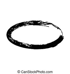 Grunge vector frame oval shape