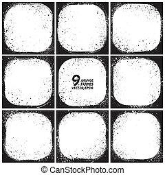 Grunge vector frames
