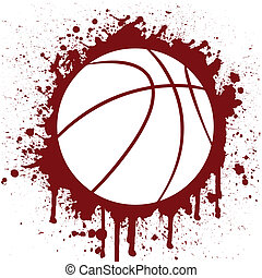 basketball - grunge vector illustration of a basketball