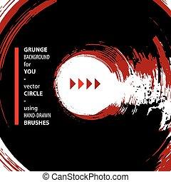 Grunge vector illustration, vector background made using...