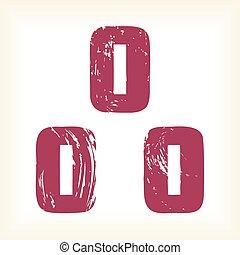 Grunge vector O letter - slab