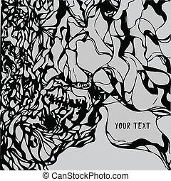 Grunge vector paint texture background