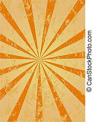 Grunge vector rays