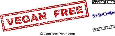 Grunge VEGAN FREE Scratched Rectangle Watermarks