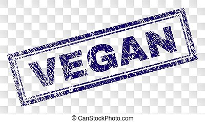 Grunge VEGAN Rectangle Stamp
