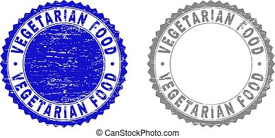 Grunge VEGETARIAN FOOD Textured Watermarks