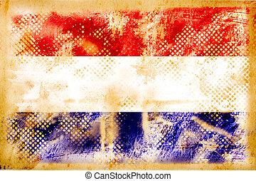 grunge, vendimia, bandera inglesa, papel, viejo