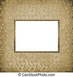 grunge, vendimia, marco, papel, plano de fondo, viejo