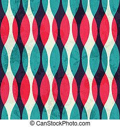grunge, vendimia, seamless, curvas, efecto, textura
