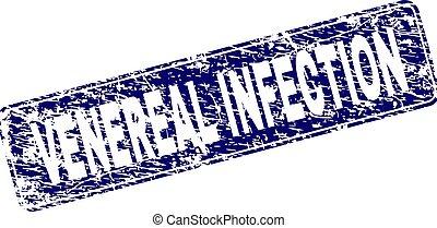 Grunge VENEREAL INFECTION Framed Rounded Rectangle Stamp