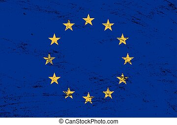 grunge, verbond vlag, vector, achtergrond, europeaan