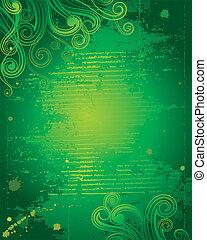 grunge, verde