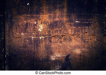 grunge, verroest metaal, achtergrond