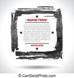 grunge, vetorial, quadro