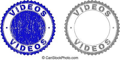 Grunge VIDEOS Textured Stamp Seals