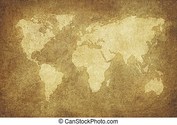 grunge, világ térkép
