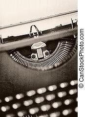 grunge, vindima, máquina escrever