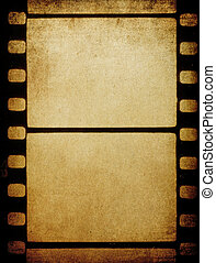 Grunge vintage 35 mm film background with space for text.