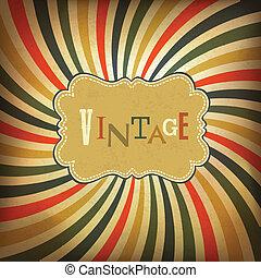 Grunge vintage background. Vector, EPS10