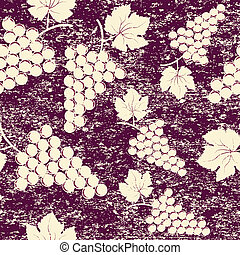 Grunge vintage background with bunch of grapes