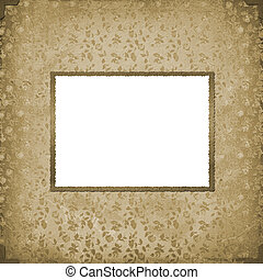 Grunge vintage background with old paper frame