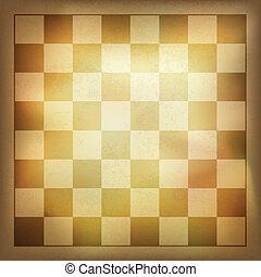 Grunge vintage chess background. Vector, EPS10