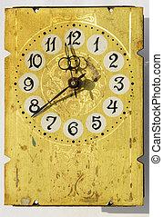grunge vintage clock-face