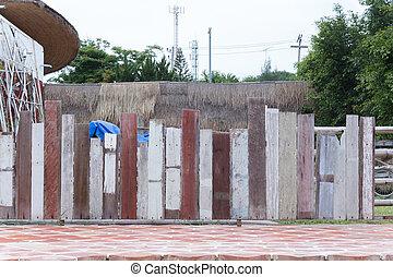 Grunge vintage fence as background