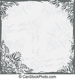 Grunge vintage floral vector backgr