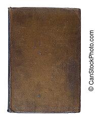 Grunge Vintage Linen Book Background - Brown Dirty Worn...