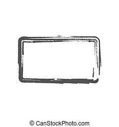 Grunge vintage painted rectangle shapes. Vector illustration