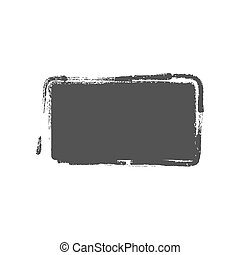 Grunge vintage painted rectangle shapes. Vector illustration