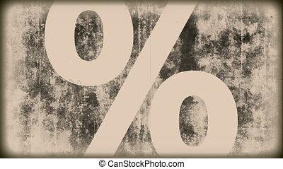 Grunge Vintage - percent sign