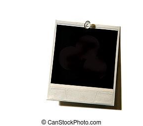 Grunge Vintage Polaroid on White - Blank Paper Polaroid on...