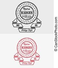Grunge Vintage Retro Logo & Badges