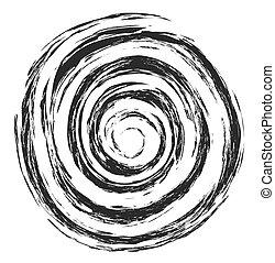 grunge vintage spiral shape
